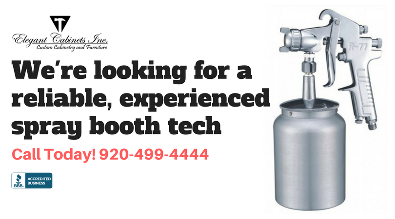 Hiring Spray Booth Technician - Elegant Cabinets - Green Bay, WI